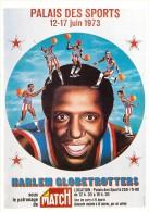 """Basket-ball- Luigi CASTIGLIONI """" Affiche HARLEM GLOBETROTTERS (2) Palais Des Sports PARIS 1973 *PRIX FIXE - Pallacanestro"""