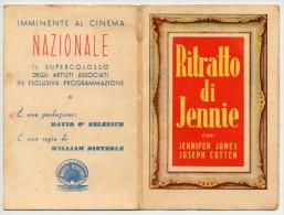 PALERMO - PICCOLO CALENDARIO CINEMA NAZIONALE FILM IL RITRATTO DI JENNIE 1950 - Kalender