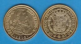 Rm-73 FERNANDO VII 8 ESCUDOS 1.810 Oro México SC/UNC Réplica T-DL-10.858 - [ 1] …-1931 : Royaume