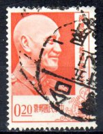 TAIWAN 1956 70th Birthday Of President Chiang Kai-shek - 20c Pres. Chiang Kai-shek  FU - 1945-... Republic Of China