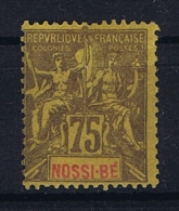 Nossi Bé : Yv 38 MH/* - Unused Stamps