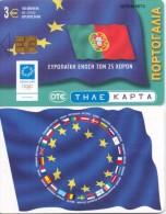 GREECE PHONECARD  EUROPEAN UNION FLAG PORTUGAL  ,X1777- 100000pcs-4/04-USED - Grèce