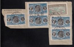 St Pierre Et Miquelon Used On Piece Scott #83 (5), #89 Postmarked: 25-2-26 - St.Pierre Et Miquelon