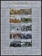 St Pierre Et Miquelon MNH Scott #696 Sheet Of 10 Different 3fr Scenes From 1900-1949 - Millenium - St.Pierre Et Miquelon