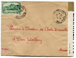 REUNION LETTRE CENSUREE DEPART SAINT-DENIS 2-10-41 REUNION POUR LA FRANCE - Réunion (1852-1975)