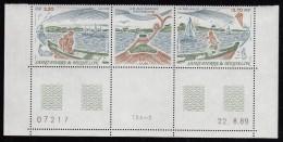 St Pierre Et Miquelon MNH Scott #519a Pair With Centre Label Heritage Of Ile Aux Marins - Bottom Selvedge - St.Pierre Et Miquelon