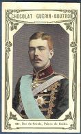 Chromo Chocolat Guerin-Boutron Livre D´or Célébrités Contemporaines 241 Prince Suède Duc De Scanie Sweden - Guerin Boutron