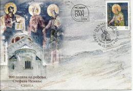SRB 2013 900A°STEFAN NEMANJA, SRBIJA, FDC - Briefmarken