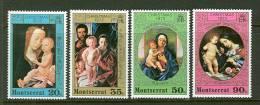 Montserrat   Christmas 1973 Paintings   Set  SC# 296-99 MNH** - Montserrat