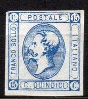 1863 Regno 15c Vitt. Emanuele II N. 13 II Tipo   Senza Gomma  (*) - 1861-78 Victor Emmanuel II.