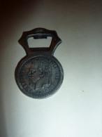 OUVRE BOITE ANCIEN ETS. PAUL KIHL SARREGUEMINES EMPIRE FRANCAIS 1867 NAPOLEON III PUBLICITE - Apri-bottiglie/levacapsule