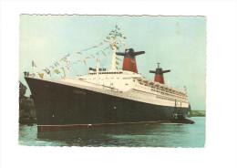 "Postcard - Ship, ""France""   (V 21601) - Segelboote"