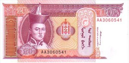 MONGOLIE   20 Tugrik    Non Daté (1993)    Pick 55     ***** BILLET  NEUF ***** - Mongolia