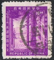 China (Taiwan) SG185 1954 Afforestation $10 Good/fine Used - Oblitérés