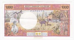 """Polynésie Française - 1000 FCFP - Mention """"PAPEETE"""" Au Verso - B.011 / Signatures Roland-Billecart / Waitzenegge - SUP++ - Papeete (Polynésie Française 1914-1985)"""