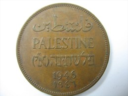 PALESTINE PALESTINA ISRAEL 2 MILS 1946 NICE GRADE - Monnaies