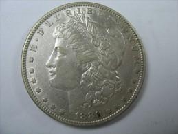 US USA 1 ONE DOLLAR MORGAN COIN SILVER 1880 - Émissions Fédérales