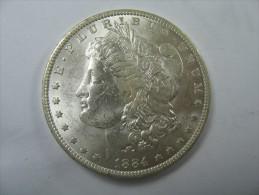 US USA 1 ONE DOLLAR MORGAN COIN SILVER 1884 O - Émissions Fédérales
