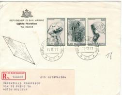 SAN MARINO - 1977 - NATALE - FDC - Ufficio Filatelico Governativo - RACCOMANDATA - FDC