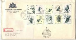 SAN MARINO - 1976 - LE VIRTU´ CIVILI - FDC - Ufficio Filatelico Governativo - RACCOMANDATA - FDC