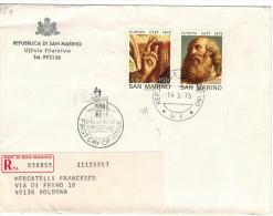SAN MARINO - 1975 - EUROPA - FDC - Ufficio Filatelico Governativo - RACCOMANDATA - FDC