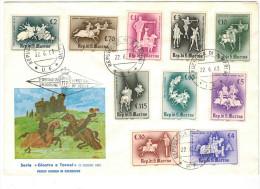 SAN MARINO - 1963 - GIOSTRE E TORNEI - FDC - FDC