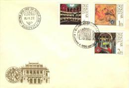 HUNGARY - 1984.FDC Cpl.Set - Budapest Opera House,Centenary(Building) Mi:3697-3699. - FDC