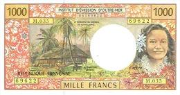 M.035 Nouvelle Caledonie Billet Monnaie Banknote IEOM 1000 Francs Signature Cornaille 2009 Vahine Cagou Neuf UNC - Papeete (French Polynesia 1914-1985)