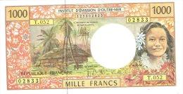 T.052 Wallis Futuna Noumea Billet Monnaie Banknote IEOM 1000 Francs Signature Avant-derniere 2013 Vahine Cagou Neuf UNC - Nouméa (Nuova Caledonia 1873-1985)