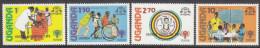 UGANDA, 1979 IYC 4  O/PRINTS MNH - Uganda (1962-...)