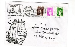 Lettre , Enveloppe Philatélique , LES SABLES D'OLONNE , 1993 - Marcophilie (Lettres)