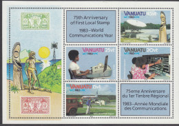 VANUATU, 1983 COMMUNICATIONS MINISHEET MNH - Vanuatu (1980-...)