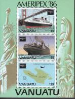 VANUATU, 1986 AMERIPEX MINISHEET MNH - Vanuatu (1980-...)