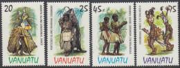 VANUATU, 1985 COSTUMES 4 MNH - Vanuatu (1980-...)