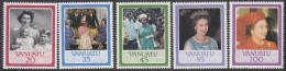 VANUATU, 1986 QUEENS BIRTHDAY 5 MNH - Vanuatu (1980-...)
