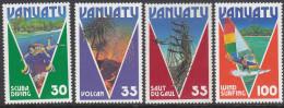 VANUATU, 1986 TOURISM 4 MNH - Vanuatu (1980-...)