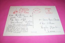 TIMBRE OBLITERATION FLAMME°  SOUVENIR DU SOMMET DE LA TOUR EIFFEL  LE 15 07 1971 - Brieven En Documenten