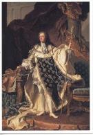 Louis XV (à 20 Ans) Roi De France Huile Sur Toile De Hyacinthe Rigaud (arts) Château De Versailles (cp Vierge) - Familles Royales