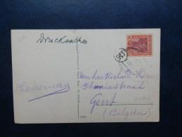 41/003   CP   ALLEMAGNE OBL. BAHNPOST  POUR LA BELG.. - Briefe U. Dokumente