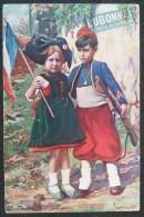 CP Publicité DUBONNET ALSACIENNE Et ZOUAVE  Enfants 1915 Guerre 14-18 Tracht - Alsace