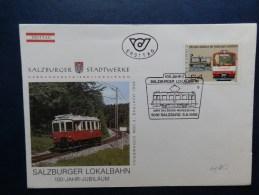 41/053  FDC   OBL.  AUTRICHE - Trains