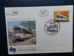 41/059  FDC  OBL.  AUTRICHE - Trains