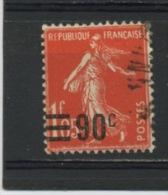 FRANCE - SEMEUSE 90c /1F,05 - N° Yvert  227 Obl. - 1906-38 Säerin, Untergrund Glatt