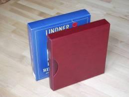 LINDNER RINGBINDER-SET WEINROT - Encuadernaciones Solas