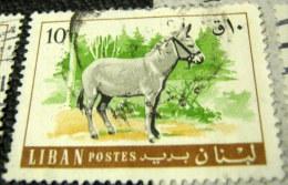 Lebanon 1968 Fauna - Domestic Animals Donkey 10pia - Used - Liban