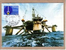 NORD - DUNKERQUE - CARTE PREMIER JOUR - FDC - FONDS MARINS - 28 MARS 1981 - PETROLE - Pétrole