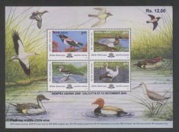 India 2000  Birds  Indepex Asiana  Souvenir Sheet # 62599 Inde Indien - Unclassified