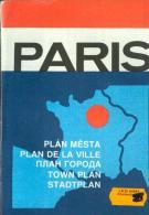 Paris Plan De La Ville 1989 - Europe