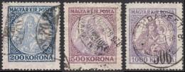 Hungary, 3 Stamps 1923, Sc # 380-382, Mi # 374-376, Used - Usati