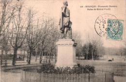 25 BESANCON PROMENADE CHAMARS STATUE DU GENERAL PAJOL  CIRCULEE 1907 - Besancon